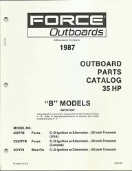 Us Marine Power Force Outboards 35 Hp B Models 1987 Parts Catalog Ob4160