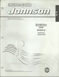 Johnson Outboards 25 Hp Models 2003 Parts Catalog P/n 5005326