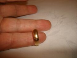 Vintage Collectible 14k Yellow Gold 5.97mm Wedding Bridal Band Ring Size 7.25