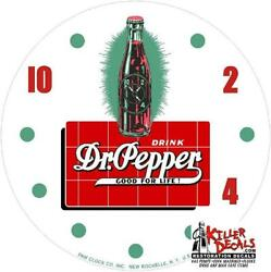 New 14.25 Rd Dr Pepper Bottle Hot Rod Glass Replacement Clock Face For Pam