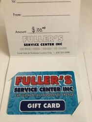 Fullers Service Center Car Wash/oil Change 100 Gift Card