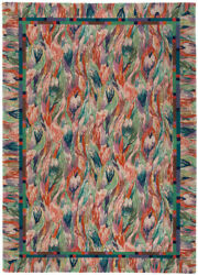Missoni Rare Designerhand Knotted Area Rug Tulip 100 Wool 5and0397x7and03910and039 New