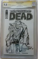 The Walking Dead 109 Cgc 9.8 Ss Sketch On Part. Blank Cover, Signed Neal Adams