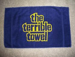 Pittsburgh Steelers 1970s Orig Myron Cope Terrible Towel Black St Mary's Tag