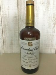 1982 Canadian Club Old Type Whisky Empty Bottle Cc From Japan Vintage
