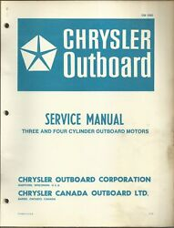 Chrysler Outboard Marine Service Manual Three And Four Cylinder Motors Ob 1565