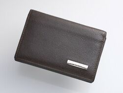 H5206M BVLGARI Logo plate Genuine Leather Business & Credit Card Case