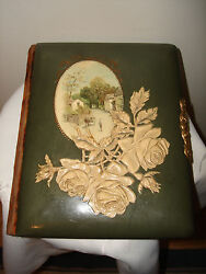 Vintage 1890and039s Beautiful Victorian Photograph Celluloid Album Book 32 Pictures