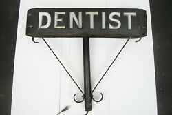 And039dentistand039 Vintage Lighted Sign Milk-glass Letters