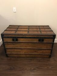Vintage Louis Vuitton Large Steamer Trunk 1800s