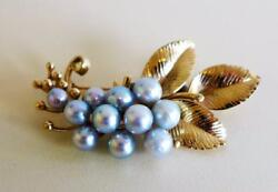 MING'S OF HONOLULU 14KT YELLOW GOLD 11 PEARLS GRAPE CLUSTER BROOCHPIN