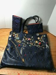 DESIGNER BAG BLOWOUT: Embossed Leather Marc Jacobs Bag with Accessories 02-13