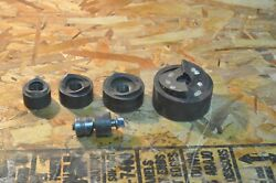 5 Piece Lot Of Greenlee Knockout Dies 2 1 1/4 1 3/4 1/2 Used Free Shipping