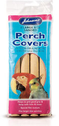 Johnsonand039s 4 Sanded Perch Covers Large - Helps Keep Nails And Beaks Trim