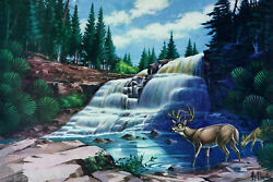 Marmont Hill 'Gooseberry Falls' Painting Print on Wrapped Canvas