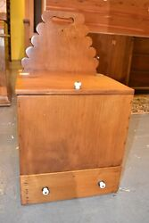 Antique Restored Pine Candle Box 19th Century Furniture Chest