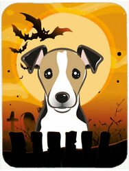 The Holiday Aisle Testa Jack Russell Terrier Glass Cutting Board BlackTan