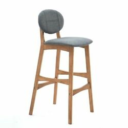 Barstool High Chair Wood Fabric Stools For Dining Kitchen Home Commercial Decors