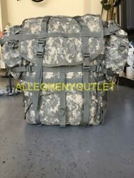 US Military ACU Molle II Large RuckSack with Frame Kidney Pads and 2 Pouches GC $34.90