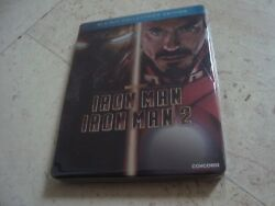 Iron Man 1 And 2 Double Feature Blu-ray Rare Oop Steelbook Marvel Robert Downey Jr