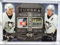 2006-07 UD ARTIFACTS TUNDRA MARIO LEMIEUX SIDNEY CROSBY DUAL TAG PATCHES - 1/1