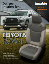 2019-2020 Toyota Rav4 Le Xle Katzkin Leather Seat Covers Kit Two Tone Light Gray