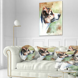 East Urban Home Animal Jack Russell Terrier Throw Pillow