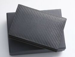 H6084M Authentic Dunhill Genuine Leather Business & Credit Card Case *Good