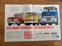 1961 Ford Trucks Ad Title Cabs Diesel Tractors Pickup