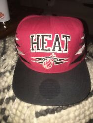 Miami Heat Red Wool Mitchell And Ness Nba Vintage Snapback Hat Cap