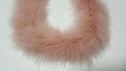 50g  Blush Pink Fluffy Marabou Boa 2 Yards Long Thick Turkey Feather Boa