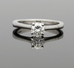 18ct White Gold Diamond Solitaire Ring .51cts
