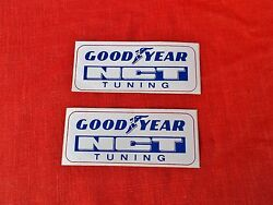 2 Goodyear Nct Tuning Rally Racing Team Benelux Europe Decal Sticker 4 Inch