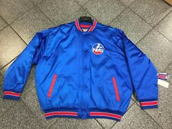 2xl New Nwt Vintage Nba New Jersey Nets Basketball Satin Quilted Jacket