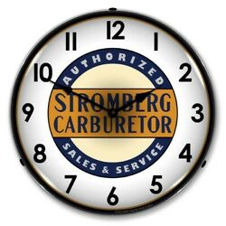 Retro Stromberg Carb Service Game Room Man Cave Backlit Led Lighted Wall Clock