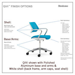 Steelcase Qivi 5-star Chair - In Multiple Colors Shell And Base Options