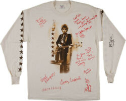 BOB DYLAN - SHIRT SIGNED WITH CO-SIGNERS