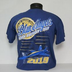 CLOSEOUT!! US Navy Blue Angels 2019 North American Tour T-Shirt in 2 colors!! $14.95