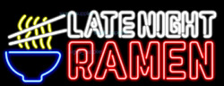 New Late Night Ramen Noodles Food Real Glass Beer Bar Neon Light Sign 24x20