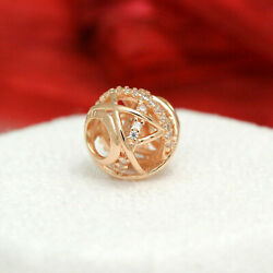 Authentic Pandora Rose Gold Plated Galaxy Openwork Charm 781388CZ