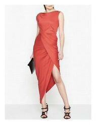 Bnwt Vivienne Westwood Anglomania Vian Tube Dress Red Uk Size S 8-10