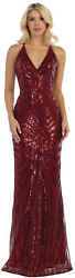 SALE SPECIAL OCCASION SHINY EVENING GOWNS FORMAL FITTED RED CARPET PROM DRESSES $129.99