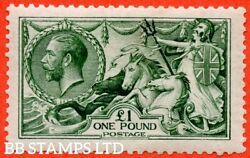 Sg. 404. N72 3. Andpound1.00 Dull Blue Green. A Very Fine Mounted Mint Exampl B43263