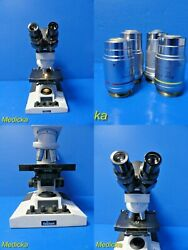 Reichert Microstar Iv Series Model 410 Microscope W/ Color Coded Objective18029
