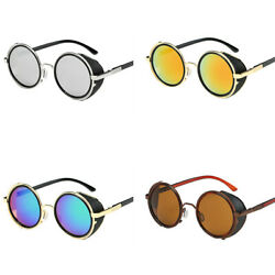Steampunk Sunglasses Vintage Retro Classic Fashion Round Design Glasses Goggles $9.99