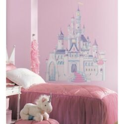 DISNEY PRINCESS CASTLE Giant Wall Mural Stickers Room Decor Decals Decoration RM