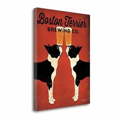 Boston Terrier Brewing Co By Ryan Fowler  Gallery Wrap Canvas