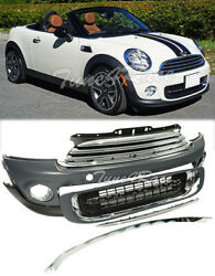 Fits 11-15 Cooper / Cooper S Coupe Roadster Clubman Front Bumper Fascia Kit