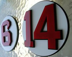 Red Sox 3d Complete Set Of 11 Number Signs Art Jersey Monster Boston Hall Xl Set