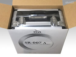 Stax Sr-007a Condenser Type Ear Speaker Silver From Japan Dhl Fast Shipping New